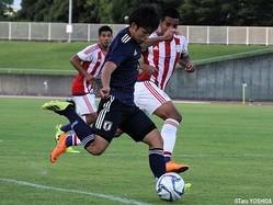 怪我明けでSBSカップ初出場のU-18日本代表FW斉藤光毅(横浜FCユース)は存在感ある動き