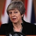 英ロンドンの首相官邸で演説するテリーザ・メイ首相(2019年4月2日撮影)。(c)Jack Taylor / POOL / AFP
