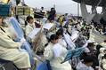 17日のタマスタ筑後では福岡県立八女高校の生徒たちによるブラスバンド応援が行われた【写真:福谷佑介】
