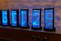 ブルースカイ、レトロモダンなLED採用のニキシー管時計Gixie Clockを発売