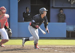 2安打1打点とプロ入りへアピールに成功した上武大・古川