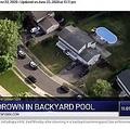 家族3人が溺死した家の上空からの写真(画像は『NBC New York 2020年6月22日付「'Devastating:' Child, 8, Among Three Family Members Found Drowned in Pool at NJ Home」』のスクリーンショット)