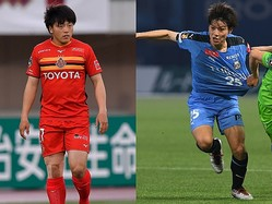 MF相馬勇紀(名古屋=左)とMF田中碧(川崎F)