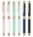 ゼブラ、ゴールドパーツとレザーで上品な多機能ペン「シャーボX SL6」を発売