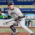 CHIBA, JAPAN - NOVEMBER 11: Outfielder Yoshihiro Maru #9 of Japan lays down for a sacrifice bunt in the bottom of 6th inning during the WBSC Premier 12 Super Round game between Japan and Australia at the Zozo Marine Stadium on November 11, 2019 in Chiba, Japan. (Photo by Koji Watanabe - SAMURAI JAPAN/SAMURAI JAPAN via Getty Images)