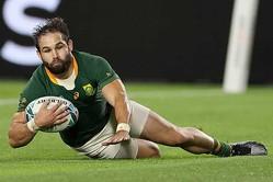 トライを決めた南アフリカのコブス・レーナック【写真:Getty Images】