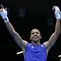プエルトリコ代表としてロンドン五輪のボクシング男子ライト級に出場したフェリックス・ベルデホ容疑者(2012年8月2日撮影)。(c)JACK GUEZ / AFP