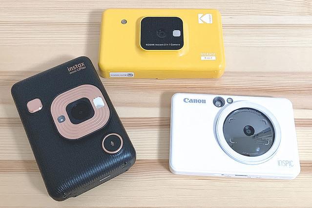 カメラ付きフォトプリンター3機種、プリント画質の違いを比較