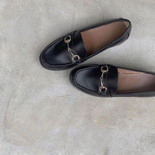 秋 靴 ローファー
