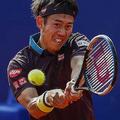 バルセロナオープン3回戦で敗退した錦織 (AP)
