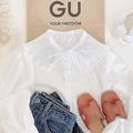 【GU】トレンドのビッグ襟を取り入れるならこれ。「プリーツカラーブラウス」が春にぴったりのかわいさでした