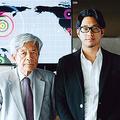 ジャーナリストの田原総一朗氏とサイバーセキュリティクラウド代表取締役の大野暉氏