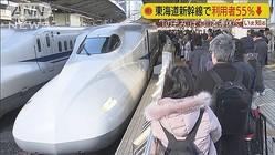 東海道新幹線 利用者は半分以下に 「のぞみ」は…