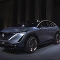 日産が東京MSで新型EV車発表 車外からスマホ操作で駐車する機能搭載