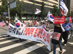 韓国の国民も立ち上がった(撮影/竹中明洋)