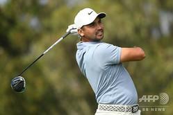 男子ゴルフ米国ツアーメジャー第1戦、第102回全米プロゴルフ選手権初日。首位発進を決めたジェイソン・デイ(2020年8月6日撮影)。(c)AFP