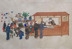 大道風俗絵巻(明治)/写真は主催者提供、個人蔵