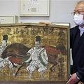 本堂の巨大絵馬の後ろから発見された絵馬=京都市東山区の清水寺