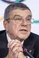 国際オリンピック委員会のバッハ会長(AP)