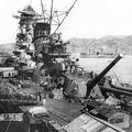 呉軍港で建造中の戦艦大和(共同通信社)