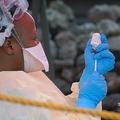 コンゴ民主共和国の東部ゴマで、エボラワクチンを用意する看護師(2019年8月7日撮影、資料写真)。(c)Augustin WAMENYA / AFP