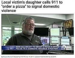 """「ピザの注文」から""""SOS""""を読み取った男性オペレーター(画像は『13abc 2019年11月19日付「Local victim's daughter calls 911 to """"order a pizza"""" to signal domestic violence」』のスクリーンショット)"""