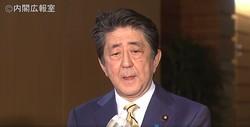 G'テレビ会談後の会見。ちなみに、G7の共同声明には五輪に関する記述なし(政府インターネットTVより)