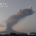桜島が噴火し噴煙が火口上5500mに達する 5000mを超えるのは3年ぶり