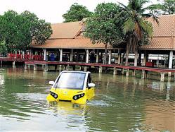 """""""水に浮く車""""小型電気自動車「FOMM ONE」"""