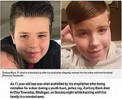 鹿狩りの最中に誤って継父に撃たれた少年(画像は『Metro 2020年9月15日付「Boy, 11, 'shot and killed by his stepdad after being mistaken for deer during hunt'」(Pictures: Facebook)』のスクリーンショット)
