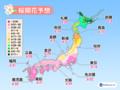3月19日に東京から桜開花スタートへ 全国的に平年より早い傾向