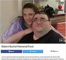 フィアンセと減量に励んでいた頃の男性(画像は『GoFundMe 2017年11月21日付「Robert Buchel Memorial Fund」』のスクリーンショット)