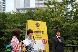 30℃を超える気温の中スーツ姿で登場した上川隆也