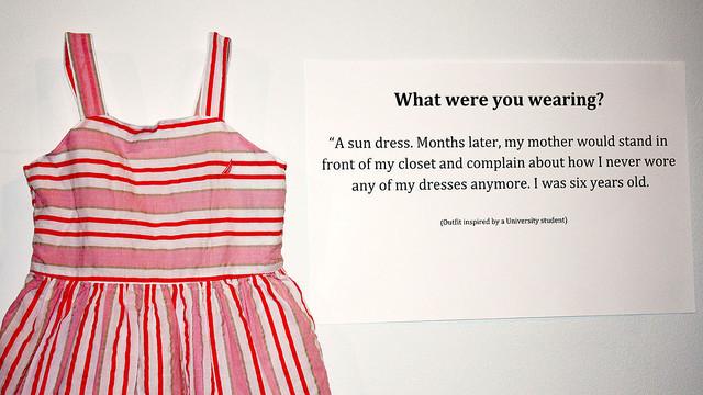 「レイプされたときに着ていた服」の展覧会。