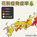 国民病とも言われる花粉症 自覚がある人の割合が最も高いのは山梨県