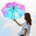 """虹色""""オーロラ""""のようにきらきら輝くビニール傘、Wpc.より再登場 - 影もレインボーに"""