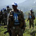 コンゴ民主共和国の北キブ州で、国連コンゴ民主共和国安定化派遣団(MONUSCO)に参加する南アフリカ兵(2012年6月2日撮影)。(c)PHIL MOORE / AFP