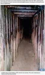 アメリカのKFCとメキシコのある寝室を繋ぐトンネル(画像は『The Sun 2018年8月23日付「FINGER LICKIN BAD 600ft-long drug smuggling tunnel found linking kitchen of old KFC restaurant to Mexico bedroom」』のスクリーンショット)