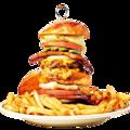 標高30cm超えのハンバーガー登場
