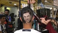 イランの理容師の技術