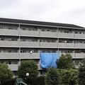 事件の現場となった兵庫県姫路市の県営住宅(C)共同通信社