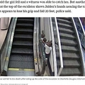 空港のエスカレーターで遊んでいた子供たち(画像は『ABC News 2019年12月6日付「New details in death of 3-year-old who fell from airport escalator」(Charlotte Douglas International Airport)』のスクリーンショット)