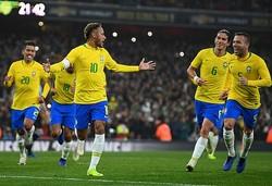 地元開催で優勝を狙うブラジル。ほぼベストに近いメンバーを揃えた。(C)Getty Images