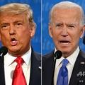 米テネシー州ナッシュビルのベルモント大学で行われた第2回米大統領選候補討論会で、論戦を交わすドナルド・トランプ大統領(左)とジョー・バイデン前副大統領(2020年10月22日撮影)。(c)JIM WATSON and Brendan Smialowski / AFP