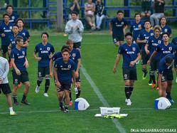 札幌市内で練習を再開した森保ジャパン