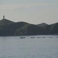 北朝鮮・金剛山付近の港を出る漁船(2011年8月31日撮影、資料写真)。(c)AFP/GOH CHAI HIN