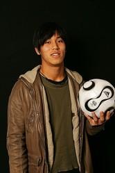 サッカーダイジェストに登場してくれた若かりし頃の本田。当時は黒髪だった。(C)SOCCER DIGEST