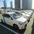 北京の電気自動車充電施設。政府の肝いりで充電設備の整備が進んでいる。(写真=Imaginechina/アフロ)