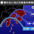 台風15号の影響 東京などの関東南部は眠れないほどの暴風か