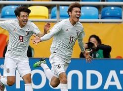 CKから貴重な追加点を挙げた田川(11番)の活躍もあり、日本がメキシコを打ち破った。 (C) REUTERS/AFLO